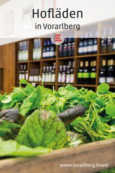 Regionale Produkte direkt vom Erzeuger: Hochwertige Lebensmittel bei qualitätsgeprüften bäuerlichen Produzenten einkaufen. Unsere Empfehlungen für Hofläden in Vorarlberg. Green Beans, Places To Travel, Vegetables, Plants, Food, Farm Shop, Farmers, Shopping, Foods