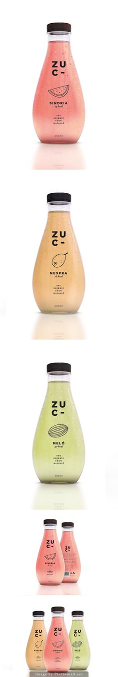 Lovely packaging for Zuc. I like the shape of the bottle and the simplicity of the design. Juice Branding, Juice Packaging, Beverage Packaging, Bottle Packaging, Pretty Packaging, Brand Packaging, Design Packaging, Simple Packaging, Coffee Packaging