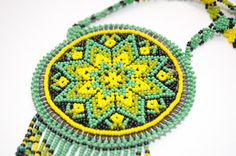 Hand-Crafted Mexican Huichol Beaded Peyote Flower by LoBonito