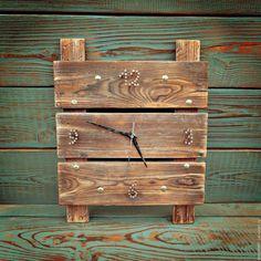 """Купить Часы из массива """"Лофт"""" - коричневый, часы из массива, лофт, часы из дерева, деревянные часы"""