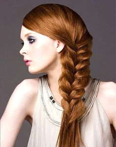 Long Reverse French Braid Hairstyle