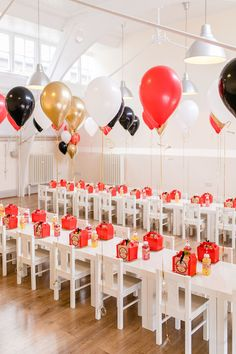 Circus Party Tables from a Greatest Showman Circus Birthday Party on Kara's Party Ideas | KarasPartyIdeas.com (42)