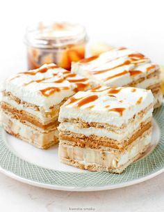 Cake Fudge Banana - Banoffee pie without baking No Cook Desserts, Cookie Desserts, Sweet Desserts, Sweet Recipes, Cookie Recipes, Delicious Desserts, Yummy Food, Icebox Cake, Cake Bars
