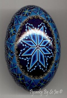 Blue Pussy Willow Duck Ukrainian Easter Egg Pysanky By So Jeo