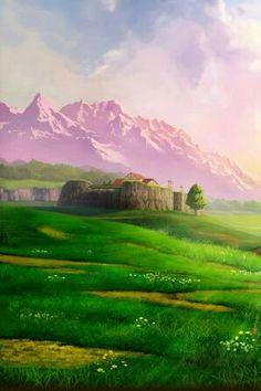 Ranch Lon-Lon, là où on trouve le délicieux lait Lon-Lon ainsi qu'Épona! Zelda Ocarina of Time