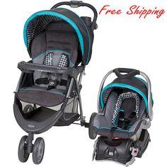 Baby Stroller Car Seat Infant Newborn Boy Girl Travel System Carriage Houndstoot
