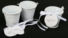 2 Inch White Metal Mini Favor Pails or Buckets Kit - Includes 12 Pails, 12 Message Cards & 12 Ribbons by Whimsical Wonders, http://www.amazon.com/dp/B0047OD462/ref=cm_sw_r_pi_dp_3X.Srb19581H3
