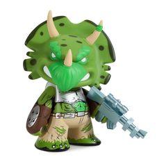 "TMNT Green Triceraton 7"" Medium Vinyl Figure"
