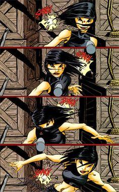 Batgirl, Cassandra Cain dodging bullets