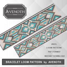 Loom bracelet pattern, loom pattern, stitch pattern, pdf file, pdf pattern, #001L