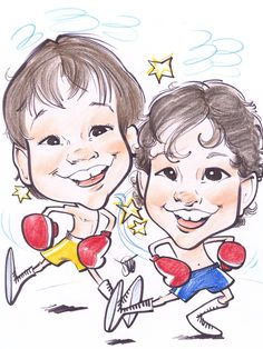 Gifts-CUSTOM CARICATURES  Hand drawn Caricatures from photos!  Choose from any theme. Order today at www.KamansArt.com Kaman's Art Shoppes Inc.