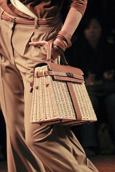 Hermes wicker bag.