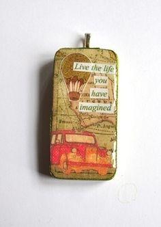 Unikt domino anheng eller nøkkelring - live life Pendant (domino) or keyring http://epla.no/shops/avsusanne/