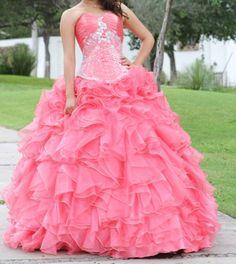 Vestidos de 15 anos largos color rosa (4)