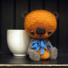 Rupert an anime thread artist bear by SammiBears by sammibears, $90.00