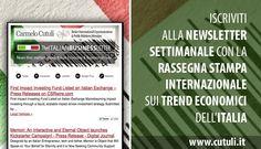 Iscrizione alla Newsletter Italian Business