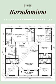 Metal House Plans, Pole Barn House Plans, Pole Barn Homes, New House Plans, Dream House Plans, House Floor Plans, Bedroom Floor Plans, Garage Plans, House Layout Plans