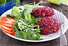 Vegetarische steak tartare Tzatziki, Veg Recipes, Falafel, Tandoori Chicken, Hummus, Foodies, Low Carb, Chips, Vegetarian