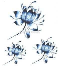 Resultado de imagem para blue lotus tattoo