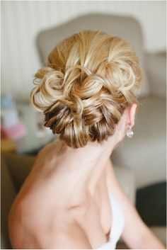 Bridal up-do hairstyle