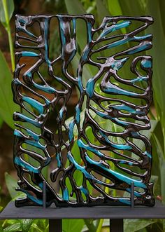 Lisa Pettibone - Glass Artist - would be interesting to do a monstera leaf in glass like this