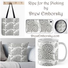 Get my juicy and delicious artwork Ripe for the Picking now on over 25 fun items! Click here for more info: https://drewemborsky.com/2017/10/ripe-for-the-picking/