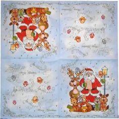 Nº 8- Servilleta decorada navidad Motivos navidad