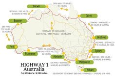 How long does it take to drive around Australia? It's a long drive around Australia! Read more to find out how long it takes to drive around Australia, things to do, best places to see and complete self-drive itineraries. Australia East Coast, Australia Map, Western Australia, Countries In Australia, Visit Australia, Australia Honeymoon, Australia Capital, Cairns Australia, Perth