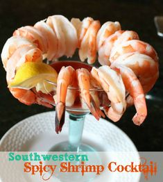 Southwestern Spicy Shrimp Cocktail