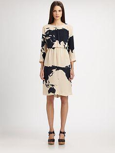A Detacher Dominga Silk-Georgette Dress
