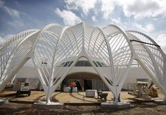 Architect Santiago Calatrava's Innovation, Science and Technology building at Florida Polytechnic University in Lakeland rises like a firework in an otherwise unremarkable landscape. Ancient Greek Architecture, Chinese Architecture, Concept Architecture, Gothic Architecture, Futuristic Architecture, Classical Architecture, Beautiful Architecture, Architecture Design, Architecture Office