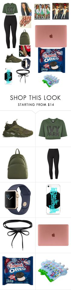"""""""Untitled #409"""" by kaylafrost15 ❤ liked on Polyvore featuring NIKE, Ivy Park, Diophy, Venus, Thomas Sabo and plus size clothing"""