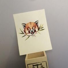 Sasha Unisex Red Panda! My favorite by a favorite! #redpanda #sashaunisex #watercolor