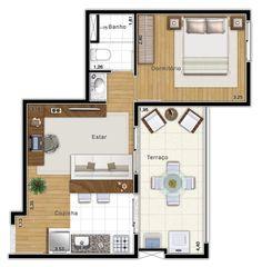 1 dormitório 38,38m² - Zoom Paulista