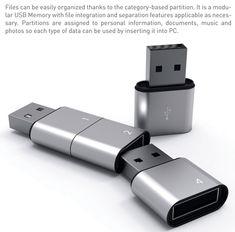 A segmented flash drive.