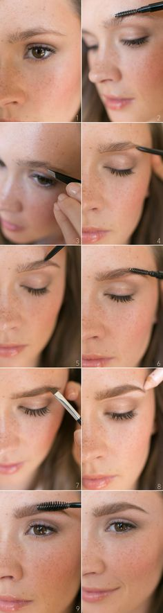 Natural Brow Beauty #Tutorial - Step by Step // Getting the perfect natural eyebrow shape is one of the most difficult beauty tricks to master.