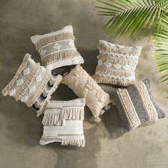 Boho Geometric Tassel Pillow Cover - Shop creative home decor products online Handmade Cushion Covers, Handmade Cushions, Decorative Pillow Covers, Decorative Cushions, Shabby Chic Homes, Shabby Chic Decor, Boho Cushions, Bohemian Pillows, Rustic Pillows