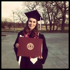 Graduating from Texas Woman's University in December 2011