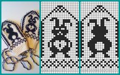 Graph 30 - District of Zemgale pattern by Lizbeth Upitis - otbus Knitting Graph Paper, Fair Isle Knitting Patterns, Knitting Charts, Crochet Patterns, Knitted Mittens Pattern, Knit Mittens, Knitting Socks, Hand Knitting, Drops Design