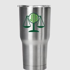 Scales of justice monogram decal, for Yeti®, RTIC, Ozark Trail or other tumbler by PracticallyWhimsy. Explore more products on http://PracticallyWhimsy.etsy.com