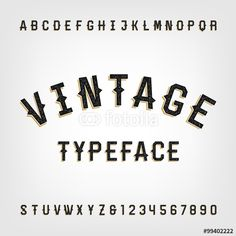 Vector: Western style retro distressed alphabet vector font. Letters and numbers. Vintage vector typography for labels, headlines, posters etc.