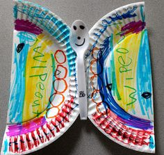 The Activity Mom: Paper Plate Alphabet Craft - B is for Butterfly
