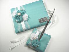Gästebuch Tiffany blau Personalisierte von MakeThisDaySpecial, $85.00