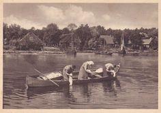 Kurische Nehrung, Dorfstimmung am Haff 1930.