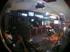 CNBC's Julia Boorstin about to shoot an interview with Xbox. (Photo by Geoff Nelson)