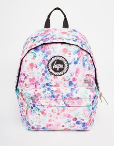 Image 1 of Hype Backpack in Multi Coloured Spot Print