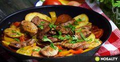 Szűzpecsenye lecsós burgonyával   NOSALTY Bushcraft, Ufo, Beef, Happy, Bulgur, Meat, Ser Feliz, Steak, Camping Survival