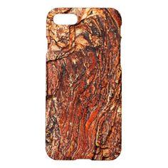 #rustic - #Reddish Brown Rock Texture iPhone 7 Case