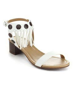 Look at this #zulilyfind! White Maya Sandal #zulilyfinds