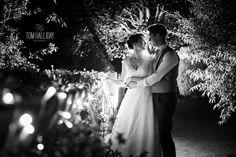 Fairy lighphotgraphy - Tom Halliday Photography - vintage style wedding - UK wedding photography - rustic quirky vintage wedding - country wedding - night photography